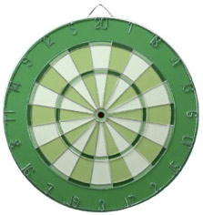 Colorful Dart Board in Green